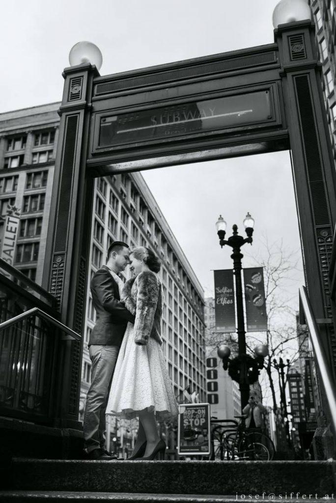 Vintage Hochzeit, Hochzeitsfotos, Hochzeit in der Stadt, Chicago Wedding